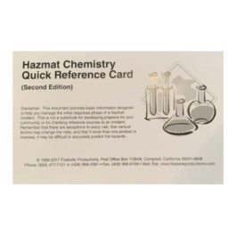 Hazmat Chemistry Quick Reference Card (Second Edition)